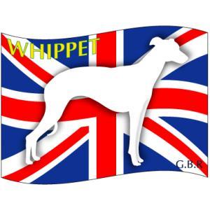 ドッグシールステッカーはた ウィペット Lサイズ|walajin-dog