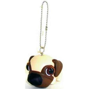 THE DOG キーホルダー パグ  ホワイト|walajin-dog