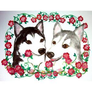 切り絵 彩色剪紙  犬・猫・ペットの記念・メモリアルに|walajin-dog