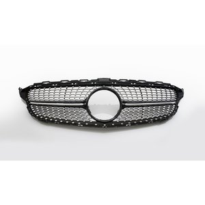 ダイヤモンドグリル Cクラス W205 '14y~ ブラック/クローム|wald-online-store