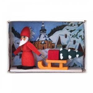 マッチ箱 サンタとそり|wald