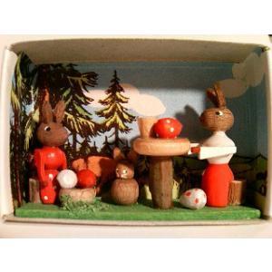 マッチ箱 ウサギのピクニック|wald