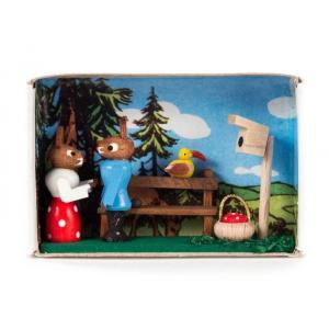マッチ箱 ウサギのデート|wald