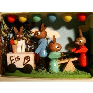 マッチ箱 ウサギのお祭り|wald