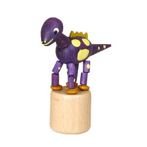 恐竜 紫 くねくね人形|wald