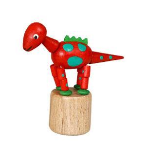 恐竜 赤 くねくね人形|wald