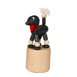 プードル 黒 くねくね人形|wald