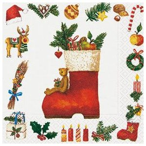 ペーパーナプキン クリスマスブーツ