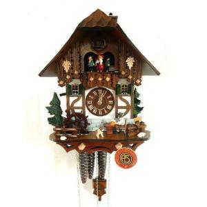 新築祝い鳩時計 煙突掃除屋さんとサンタクロース 6564|wald