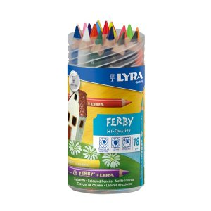 リラ社 透明色鉛筆 18色入り|wald