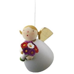 お花を抱えた天使さん  吊り下げタイプ|wald