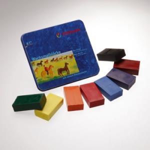 蜜蝋クレヨン ブロック 8色入り|wald