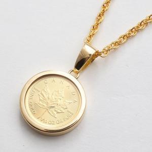 純金 コイン ペンダント ゴールド ネックレス 1/10オン...
