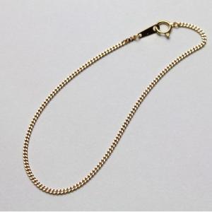 18金 ブレスレット 喜平 チェーン 2面カット キヘイ 18cm 約1.5g