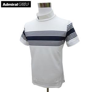 ADMIRAL アドミラル ゴルフウェア 春夏 メンズウエア 半袖シャツ ADMA941WHT(00) M:SSM494 L:SSM495 LL:SSM496