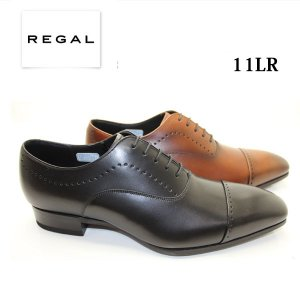 REGAL リーガル メンズビジネス スタイリッシュな印象のストレートチップメダリオン 11LR|walkup