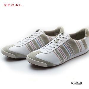 REGAL リーガル メンズ レースアップレザースニーカー 66MRAD|walkup