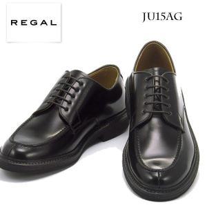 REGAL リーガル メンズ ビジネスシューズ JU15AG ブラック ラバースポンジソールのUチップ|walkup