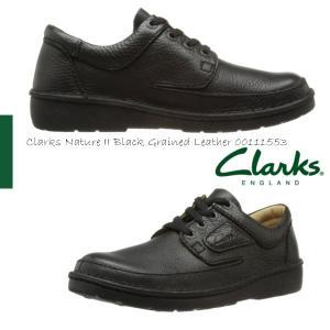 Clarks クラークスネイチャーII メンズ Clarks Nature II Black Grained Leather 00111553|walkup