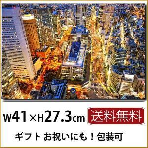 壁掛けインテリア キャンバスフォトパネル モダン 大阪の夜景p6