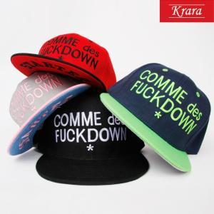 COMME des FUCK DOWN 2トーン キャップ  スナップバック キャップ キャップ 帽子 ローキャップ ベースボールキャップ|wallstickershop