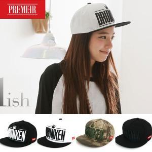 キャップ ローキャップ 帽子 スナップバック キャップ PREMIER DRUNKEN レディース キャップ メンズ キャップ ローキャップ|wallstickershop