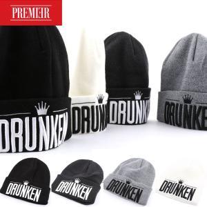 ニット帽 PREMIER DRUNKEN ロゴ レディース メンズ ニット帽 ニットキャップ ニット帽子 レディース帽子 メンズ帽子|wallstickershop