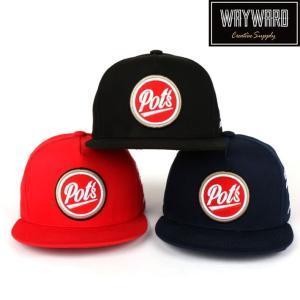ローキャップ 帽子 スナップバック キャップ Pot's ポッツ ロゴ入り レディース キャップ メンズ キャップ 野球帽子 wallstickershop