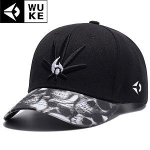 キャップ メンズ レディース ブラック 帽子 ベースボールキャップ 野球帽子 コットンキャップ シンプル 黒い葉 骸骨 スカル b系 ドクロ ダンス|wallstickershop
