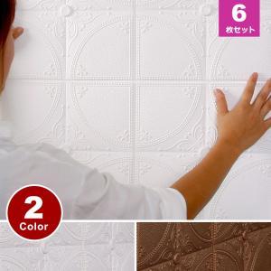 クッションブリックシート お得な6枚セット 壁紙 おしゃれ シール DIY 人気 装飾レンガタイル調 白 かるかるブリック (壁紙 張り替え) 簡単立体|wallstickershop