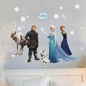 ウォールステッカー 壁 ディズニー キャラクター アナと雪の女王アナ エルサ オラフ トナカイ 貼ってはがせる のりつき 壁紙シール ウォールシール|wallstickershop