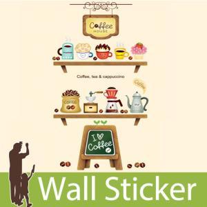 ウォールステッカー おしゃれ かわいい 北欧 両面印刷 カフェ ボード 棚 窓 ガラス 玄関 ベランダ 子供部屋 リビング インテリア シール のり付|wallstickershop