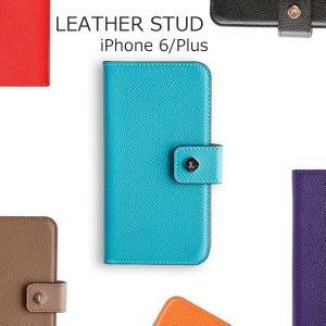 iPhone6 iPhone6s ケース アイフォン Plus ケース 手帳 ブランド カバー 革 レザー invite.L STUD Case ドイツ製 本革|wallstickershop