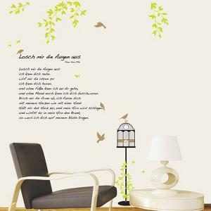 ウォールステッカー 壁 木 木と鳥かご 貼ってはがせる のりつき 壁紙シール ウォールシール 植物 木 花 リメイクシート|wallstickershop