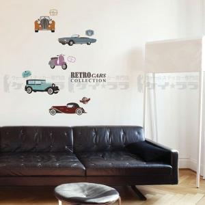 ウォールステッカー 壁 北欧 レトロカー 貼ってはがせる のりつき 壁紙シール ウォールシール リメイクシート|wallstickershop