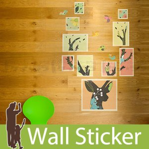 ウォールステッカー 壁 北欧 モダン鹿 貼ってはがせる のりつき 壁紙シール ウォールシール 動物 リメイクシート|wallstickershop
