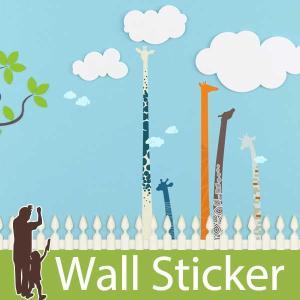 ウォールステッカー 動物 キリン きりん 麒麟 アニマル 貼ってはがせる のりつき 壁紙シール ウォールシール リメイクシート|wallstickershop