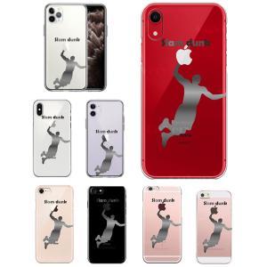 iPhone ケース クリアケース (バスケットボール スラムダンク) iPhoneX/Xs/XR/8/7/6/6s/5s/5/SE アイフォン おしゃれ かわいい スマホケース クリアー ハード|wallstickershop