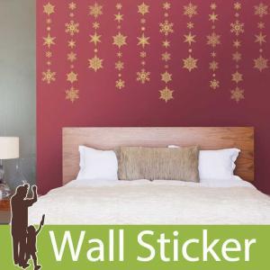 ウォールステッカー 壁 クリスマス 飾り 雪 結晶 貼ってはがせる のりつき 壁紙シール ウォールシール ウォールステッカー本舗|wallstickershop