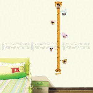 ウォールステッカー 壁 身長計 動物 貼ってはがせる のりつき 壁紙シール ウォールシール ウォールステッカー本舗|wallstickershop