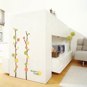 ウォールステッカー 壁 木 モダンツリー 貼ってはがせる のりつき 壁紙シール ウォールシール 植物 木 花|wallstickershop