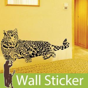 ウォールステッカー 壁 アニマル 動物シール 豹 (ヒョウ) 貼ってはがせる のりつき 壁紙シール ウォールシール ウォールステッカー本舗|wallstickershop