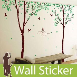 ウォールステッカー 壁 木 細長い木 貼ってはがせる のりつき 壁紙シール ウォールシール 植物 木 花|wallstickershop