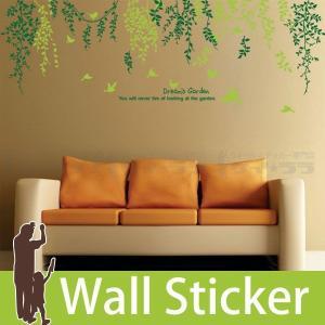 ウォールステッカー 壁 木 カラフルリーフ 貼ってはがせる のりつき 壁紙シール ウォールシール 植物 木 花|wallstickershop