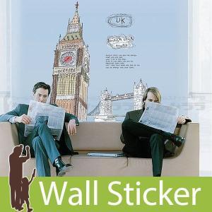ウォールステッカー 壁 北欧 ビッグベン エリザベス・タワー 貼ってはがせる のりつき 壁紙シール ウォールシール ウォールステッカー本舗|wallstickershop