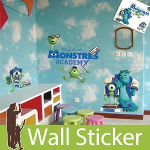 ウォールステッカー 壁 ディズニー キャラクター モンスターズ アカデミー 貼ってはがせる のりつき 壁紙シール ウォールシール ウォールステッカー本舗|wallstickershop