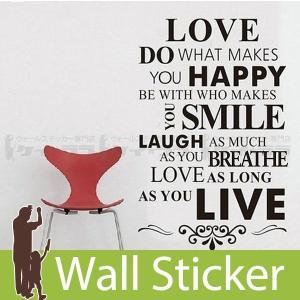 ウォールステッカー 壁 英語 文字 英字 英文字(Love) 転写タイプ 貼ってはがせる のりつき 壁紙シール ウォールシール ウォールステッカー本舗|wallstickershop
