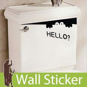 ウォールステッカー 壁 英語 文字 ポイントステッカー トイレ ハローワニ 転写タイプ 貼ってはがせる のりつき 壁紙シール ウォールシール 動物 y4|wallstickershop