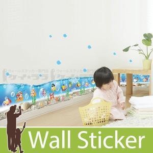 ウォールステッカー 壁 海 海底で泳ぐ魚 貼ってはがせる のりつき 壁紙シール ウォールシール 動物|wallstickershop