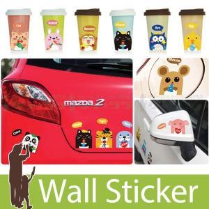 ウォールステッカー スイッチ コンセント アニマル 動物 デコステッカー 貼ってはがせる のりつき 壁紙シール ウォールシール|wallstickershop